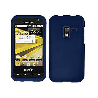 Unlimited Cellular Rubberized Snap-On Cover for Samsung Conquer 4G SPG-D600 (Blu