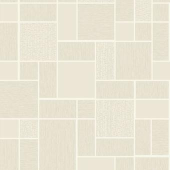 Holden Decor Glitter Tile Beige White Silver Glitter Washable Vinyl Wallpaper