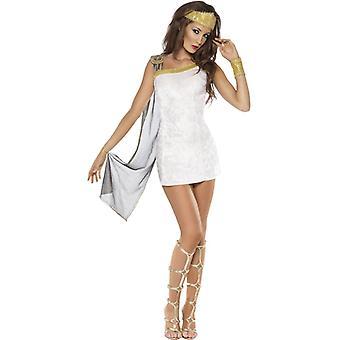 Venus Kostüme Damen Göttin Römer Kleid weiss gold Venuskostüm