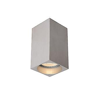 Lucide DELTO LED Square GU10/5W Ø5.5cm H10cm Satin Chrome