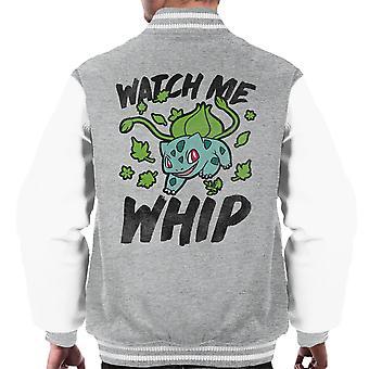 Watch Me Whip Bulbasaur Pokemon Men's Varsity Jacket