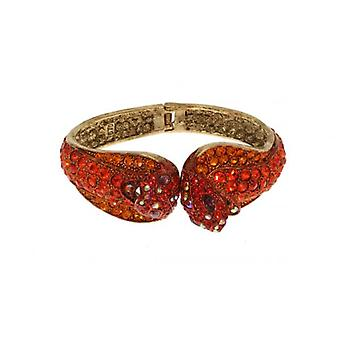 W.A.T Orange Swarovski Crystal Cobra Bracelet