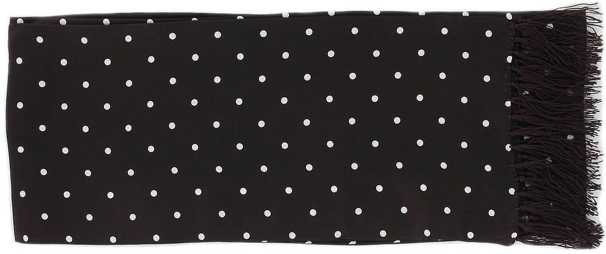 Michelsons of London Polka Dot Narrow Silk Scarf - Burgundy