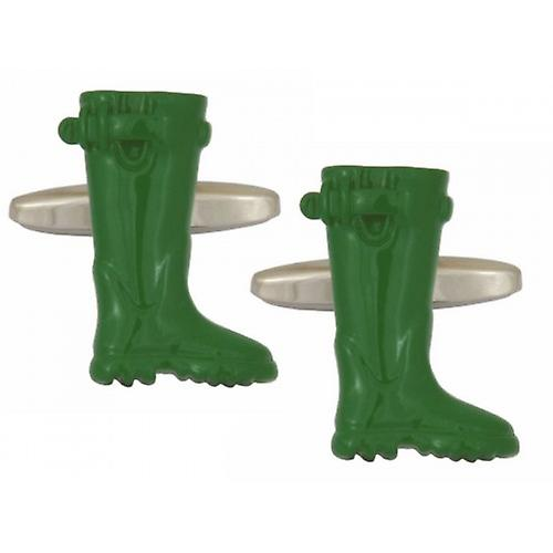 Zennor Wellington Boot Cufflinks - Green