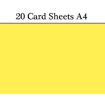 20 Golden Yellow A4 Card Sheets for Crafts | Coloured Card for Crafts