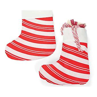 12 Giant Budget Christmas Candy Cane Striped Stockings | Gift Wrap Supplies