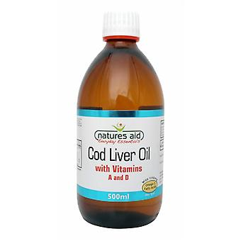 Natures Aid, Cod Liver Oil Liquid (with Vitamin A & D) 500 ml.
