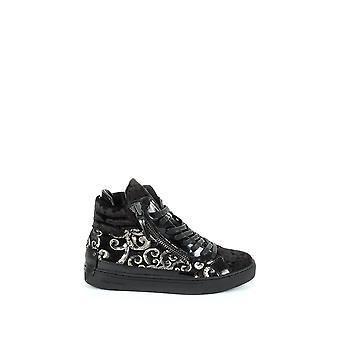 Crime London Damen 2532320 Schwarz Leder Hi Top Sneakers