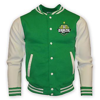 Brasilien College Baseball Jacket (grün)