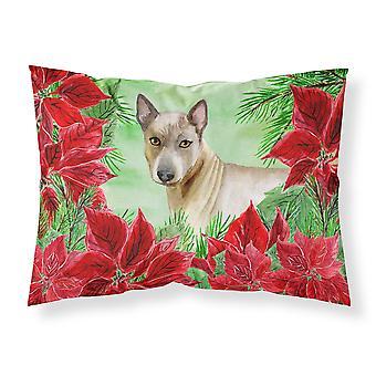Thai Ridgeback Poinsettas Fabric Standard Pillowcase