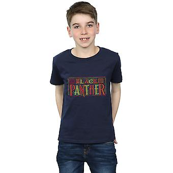 Marvel Boys Black Panther Tribal Logo T-Shirt