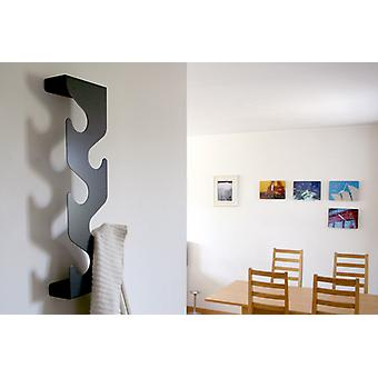 Black Wave Coat Rack by J-Me