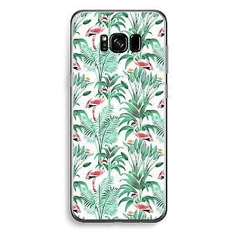 Samsung Galaxy S8 Plus Transparent fodral (Soft) - Flamingo blad