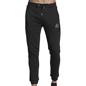 Kings Will Dream Stanford Cuff Velour Panel Joggers Black
