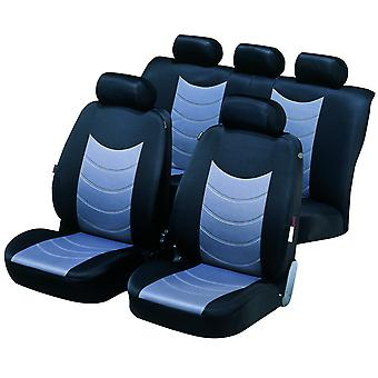 Felicia Car Seat Cover For Black & Silver For Mitsubishi LANCER Mk IV 1988-1994