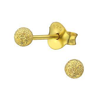 Sprinkeld bal 3Mm - 925 Sterling Zilver klassieke Ear Studs
