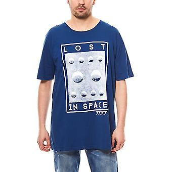 JUNK YARD shirt oversized T-Shirt Christopher lost men's blue with print