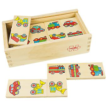 Bigjigs Toys Wooden Traditional Dominoes (Transport) Games Play Set