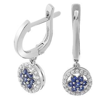 Orphelia Silver 925 Earring Drop Blue/White Zirconium   ZO-7047