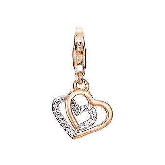 Esprit Anhänger Charms Silber rosé promise of love ESCH91568B000