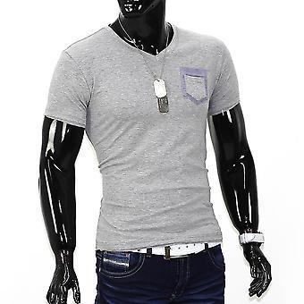 Men's short sleeve stretch slim fit Polo T-Shirt clubwear T-shirt Pocketbull