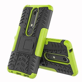 For Nokia 6 5.5 2018 hybrid case 2 piece SWL outdoor green accessories bag case cover protection