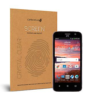 Celicious Vivid Invisible Glossy HD Screen Protector Film Compatible with ZTE Overture 2 [Pack of 2]