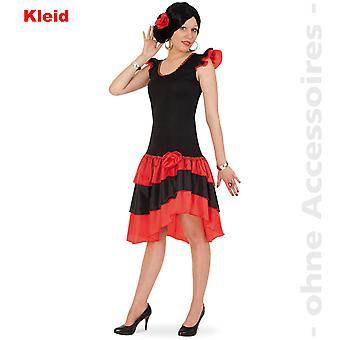 Spaanse Lady kostuum Flounce jurk Spanje Flamenco dames kostuum