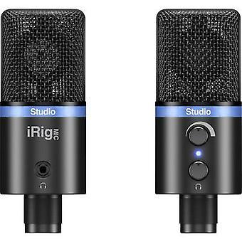 IK Multimedia IRIG MIC STUDIO nero USB studio microfono con cavo incl. clip, Stand, custodia in acciaio