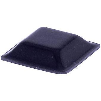 TOOLCRAFT PD2127SW Fuß selbstklebend, quadratisch schwarz (L x b x H) 12,7 x 12,7 x 3,1 mm 1 PC
