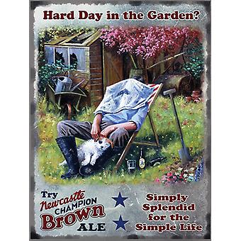Newcastle Brown Ale Gardener Large Size Metal Sign 400Mm X 300Mm