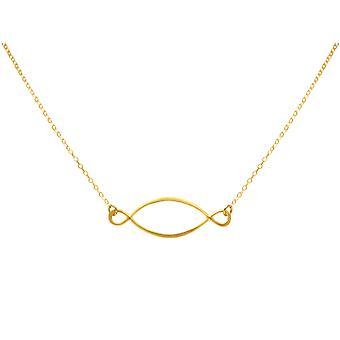 Gemshine - Damen - Halskette - Anhänger - INFINITY - 925 Silber - Vergoldet - 50 cm