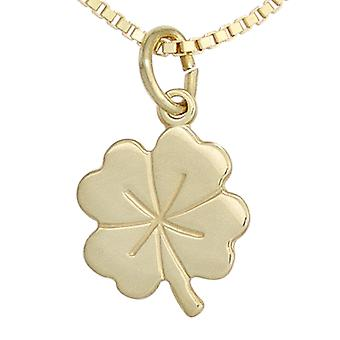 Pendant for necklace clover 333 gold yellow gold