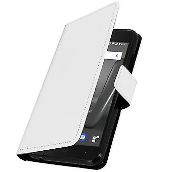 Business klasse boekenkast, dunne case met kaartslot voor Wiko Harry - wit