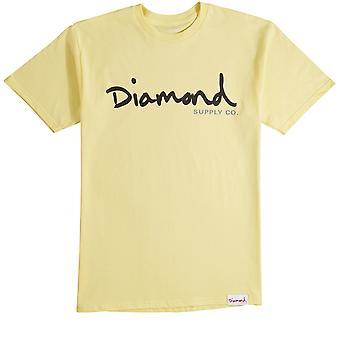 Diamond Supply Co Og Script T-shirt Yellow