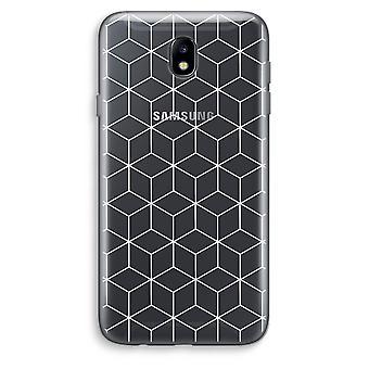 Samsung Galaxy J7 (2017) Transparent Case - Cubes black and white
