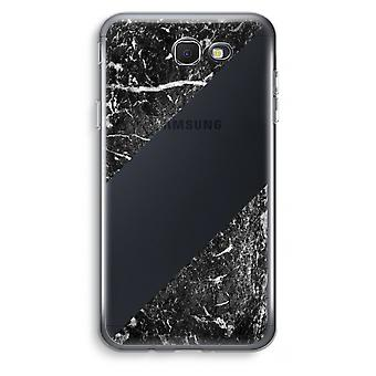 Samsung Galaxy J7 Prime (2017) Transparent Case (Soft) - Black marble