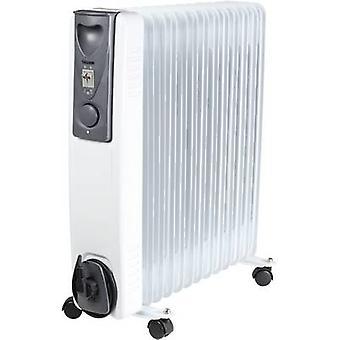 TriStar KA-5093 Oljefylte radiator 28 m² 1000 W, 1500 W, 2500 W hvit