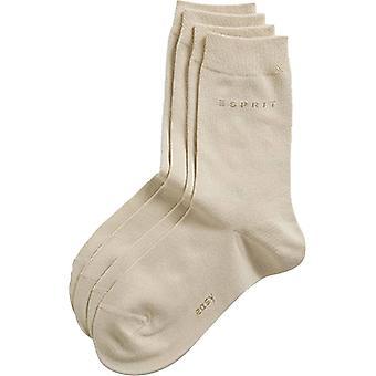 Esprit Basic Easy 2 Pack Mid-Calf Socks - Cream