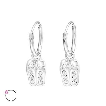Ballerina Shoes - 925 Sterling Silver Hoops - W32873x