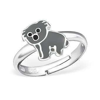 Koala Bear - 925 Sterling Silver + Epoxy Colour Rings - W27725x