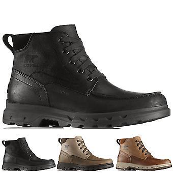 Mens Sorel Portzman Moc Toe Winter Waterproof Hiking Canvas Ankle Boots