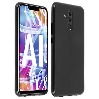 Silicone case, Glossy & matte back cover for Huawei Mate 20 Lite - Black