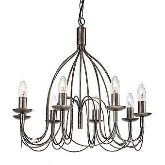 Firstlight Regency Eight Light Pendant Finished In Antique Silver