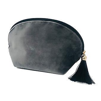 Victoria's Design cosmetic bag velvet gray 21 cm