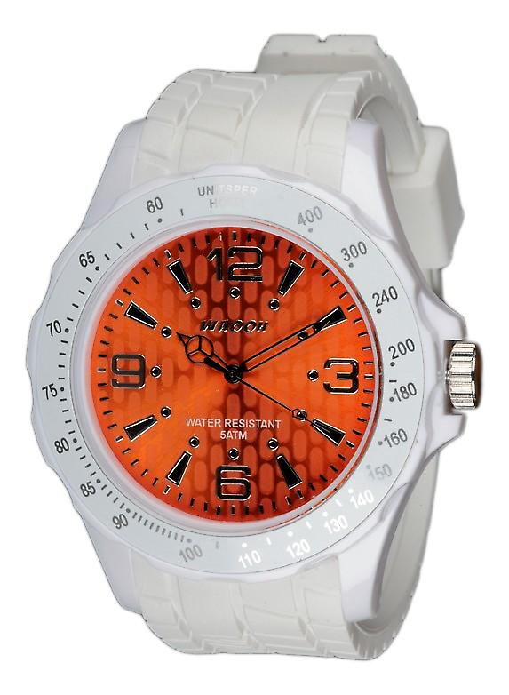 Waooh - Silicone Watch White Dial With A Silvery Figures Waooh Gpm48 Inspired From Grand Prix De Monaco