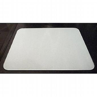 Premium Glass White Medium Kitchen Worktop Saver Protector