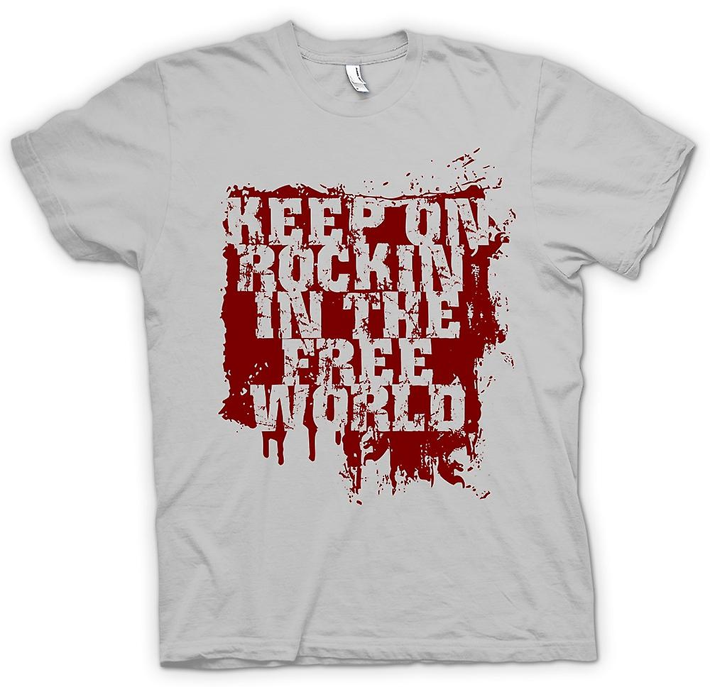 Mens t-shirt-Keep On Rockin In The Free World