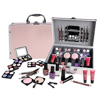 BriConti make-up case set professional quality 42-teilig in ALU case beauty case pink TOP