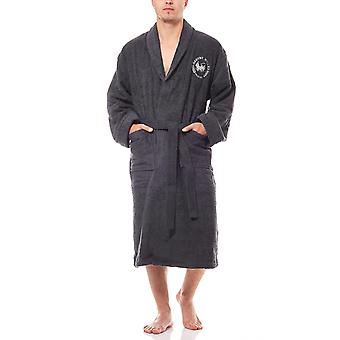 Harvey Miller Polo Club of comfortable men's bathrobe with Belt Black